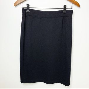 ST. JOHN Black Knit Pencil Skirt Size 6